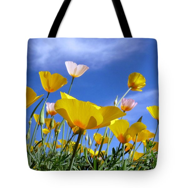 Poppies And Blue Arizona Sky Tote Bag