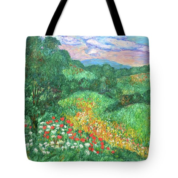 Poppies And Lace Tote Bag by Kendall Kessler