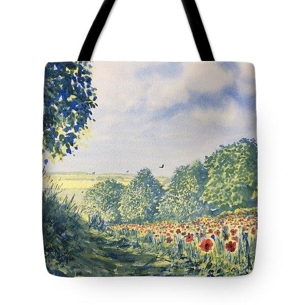 Poppies A'plenty Tote Bag
