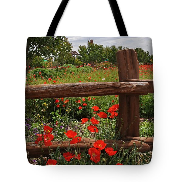 Poppies At The Farm Tote Bag by Lynn Bauer