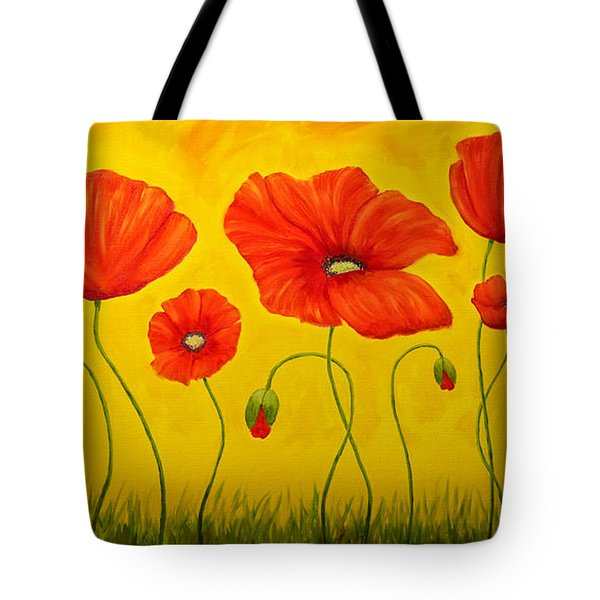 Poppies At The Time Of Tote Bag