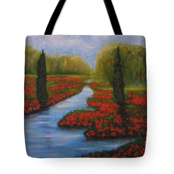 Poppies Guards Tote Bag