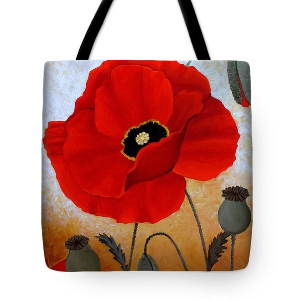 Poppies I Tote Bag by Deyana Deco
