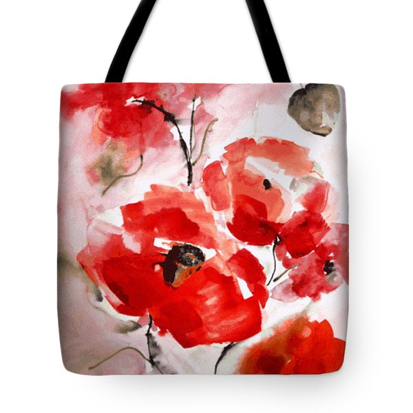 Poppies I Tote Bag by Hedwig Pen