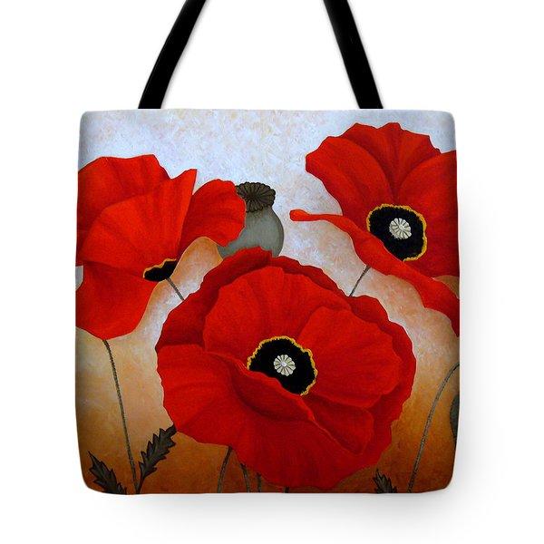 Poppies II Tote Bag by Deyana Deco