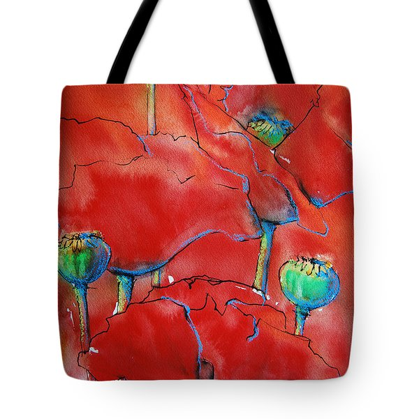 Poppies II Tote Bag by Jani Freimann