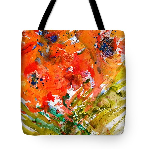 Poppies In A Hurricane Tote Bag