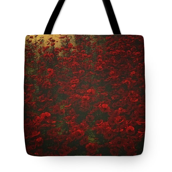 Poppies In The Rain Tote Bag
