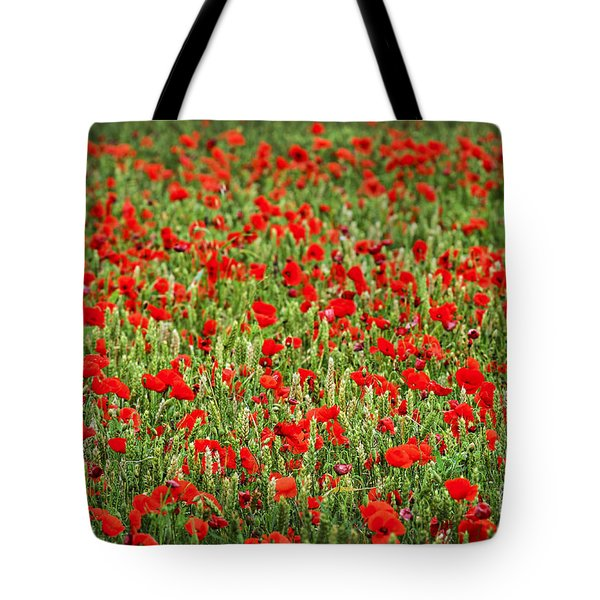Poppies In Wheat Tote Bag