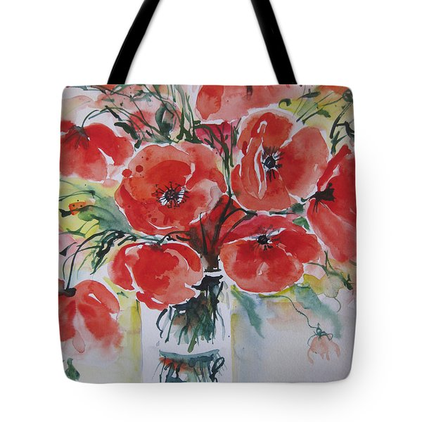 Poppies Iv Tote Bag
