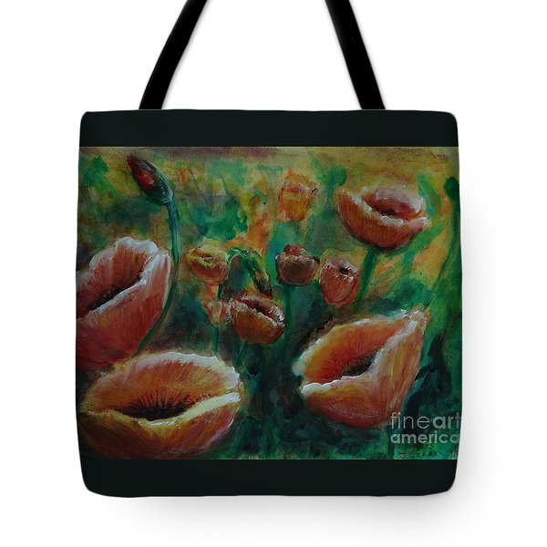 Poppies Tote Bag by J L Zarek