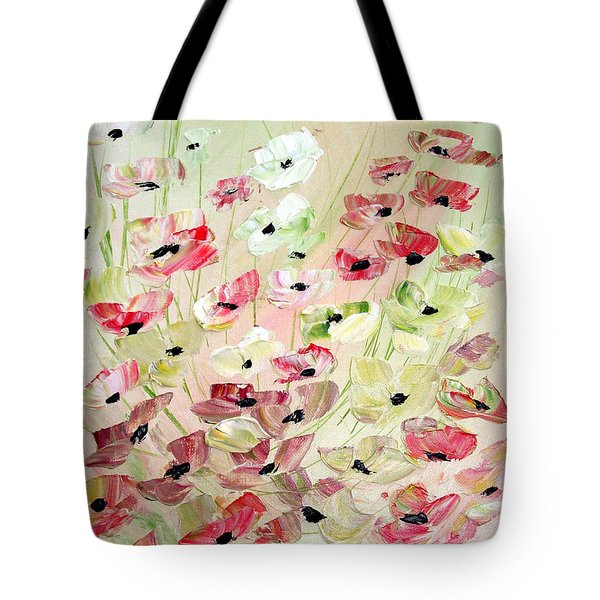 Tote Bag featuring the painting Poppies Knife 2 by Dorothy Maier