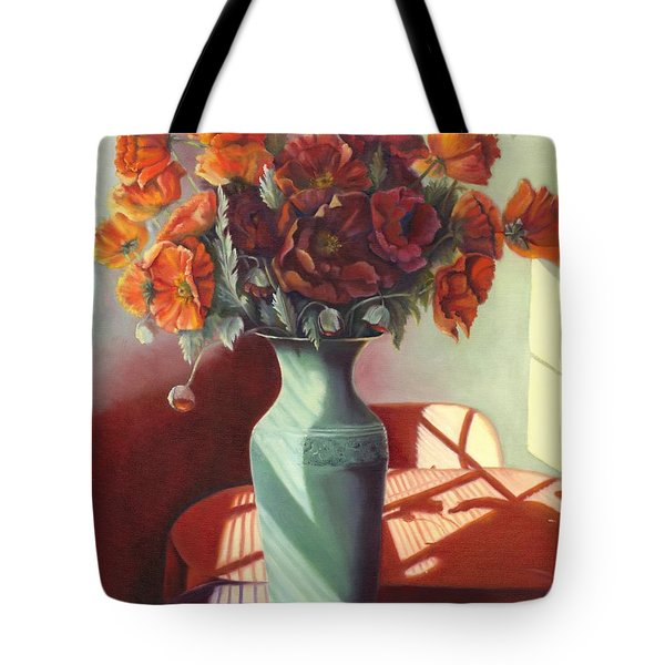 Poppies Tote Bag by Marlene Book