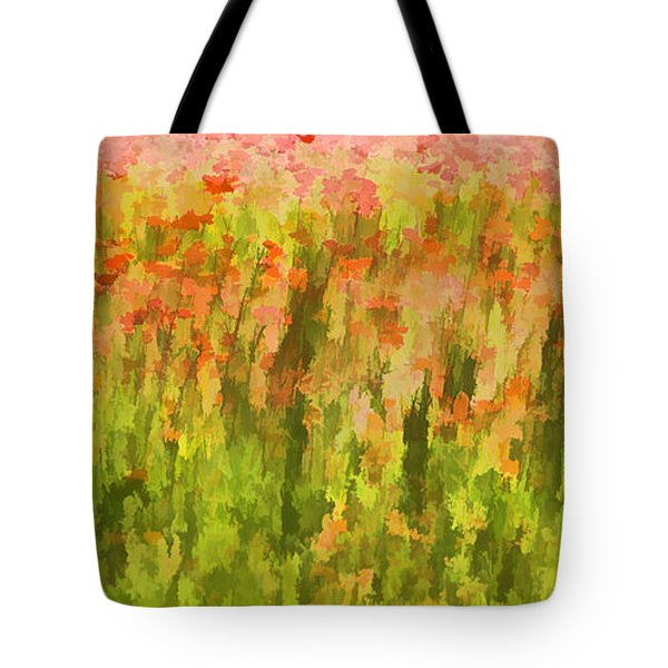 Tote Bag featuring the painting Poppies Of Tuscany IIi by David Letts