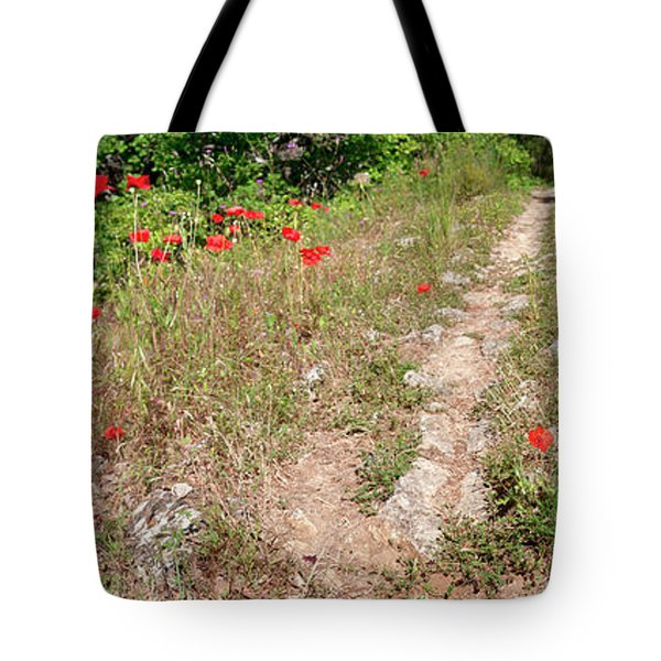 Poppies On The Way To Caseneuve Tote Bag