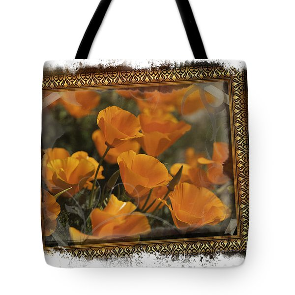 Tote Bag featuring the photograph Poppies by Richard J Thompson