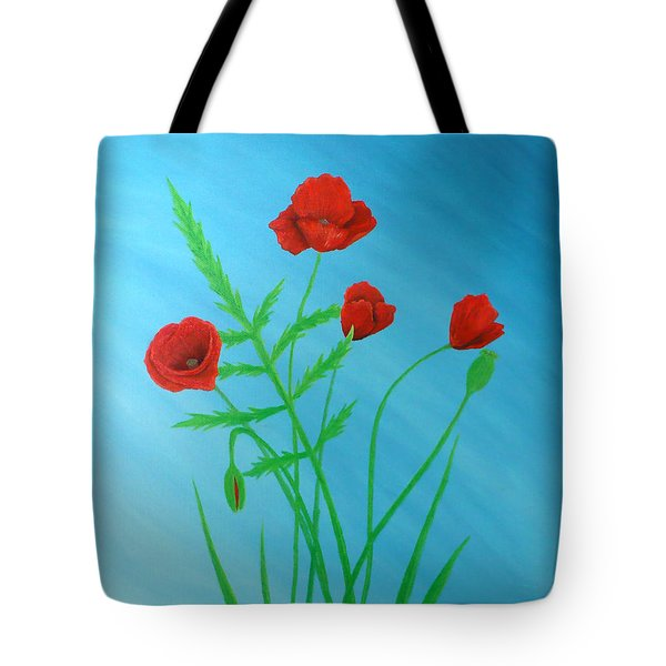 Poppies Tote Bag by Sven Fischer