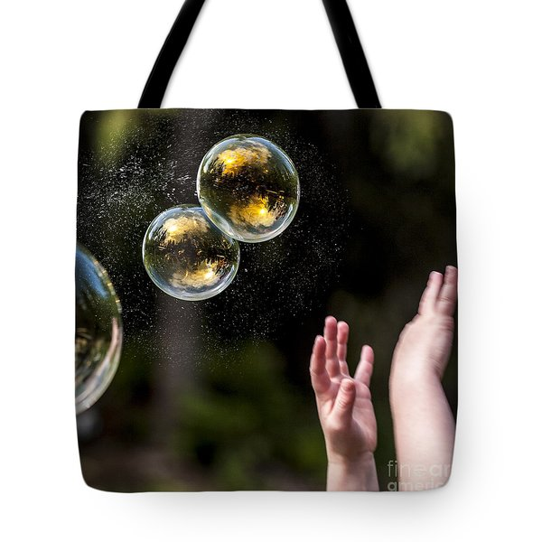 Poppin Bubbles Tote Bag by Darcy Michaelchuk