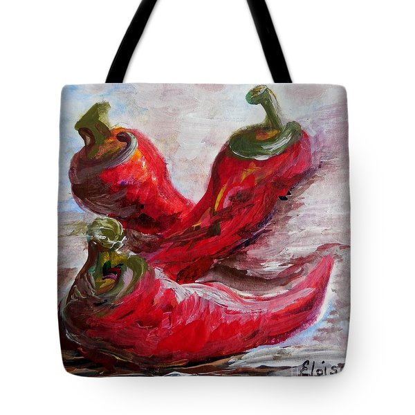Poppin' Peppers Tote Bag