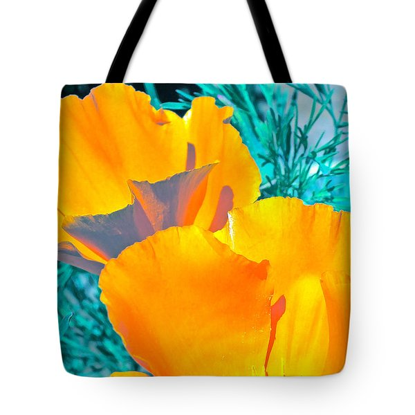 Tote Bag featuring the photograph Poppy 4 by Pamela Cooper