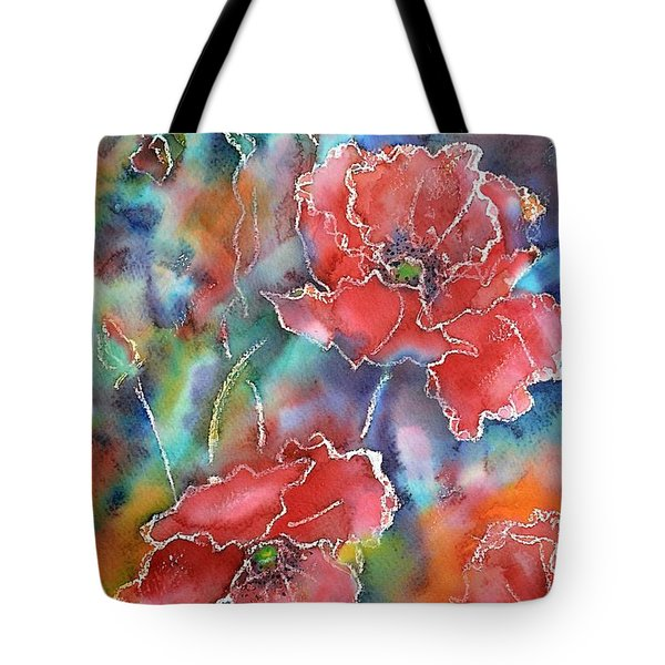 Poppy Abstract Tote Bag