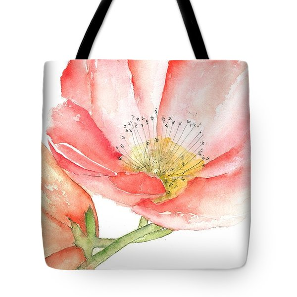 Poppy Bloom Tote Bag
