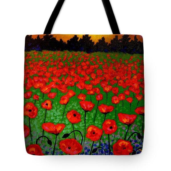 Poppy Carpet  Tote Bag by John  Nolan
