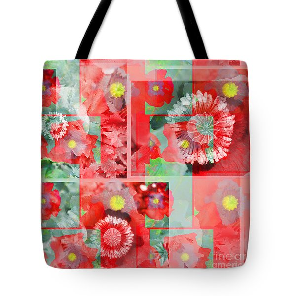 Poppy Collage Tote Bag