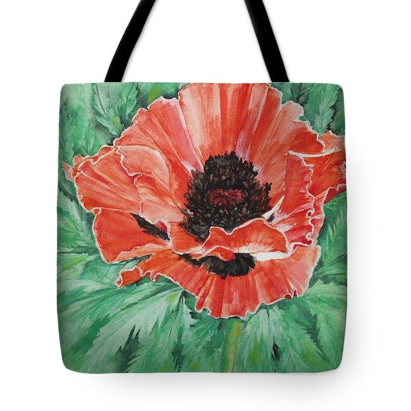 Poppy Tote Bag by Ellen Canfield