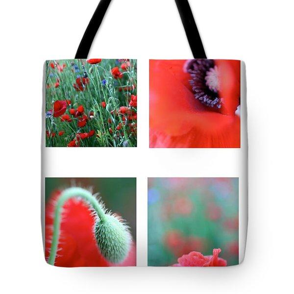 Poppy Field 1 Tote Bag by AR Annahita