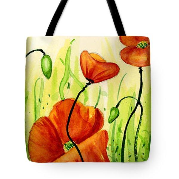 Poppy Field Tote Bag by Annie Troe