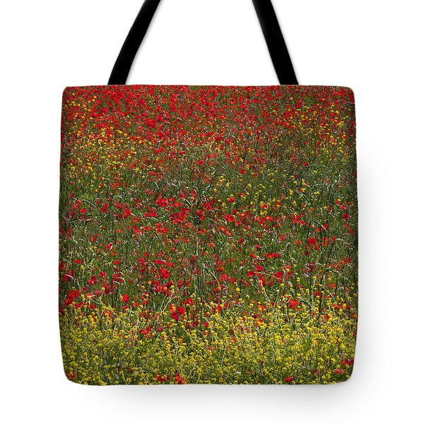 Poppy Field Tote Bag by Bob Phillips