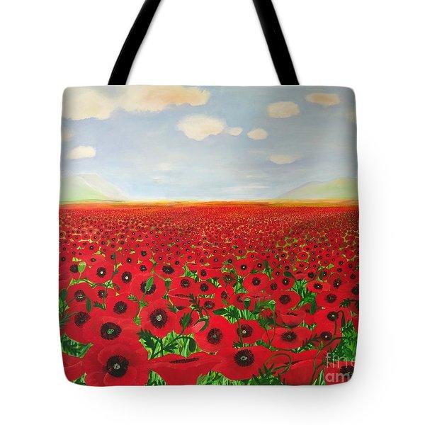 Poppy Fields Tote Bag