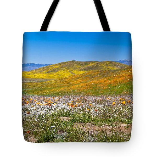 Tote Bag featuring the photograph Poppy Fields by Richard J Thompson
