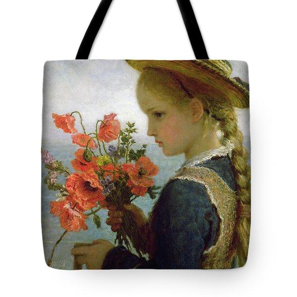 Poppy Girl Tote Bag