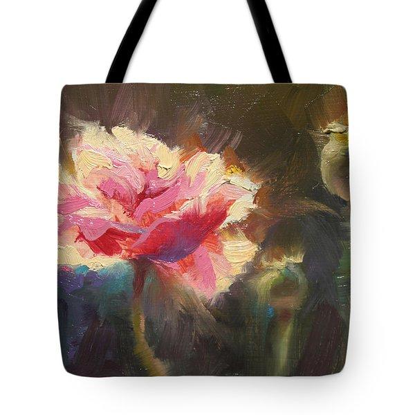 Poppy Glow Tote Bag by Karen Whitworth