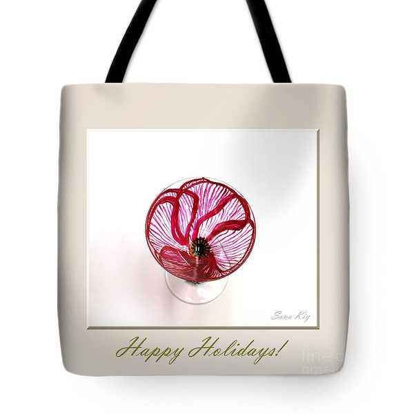 Poppy. Happy Holidays Tote Bag by Oksana Semenchenko