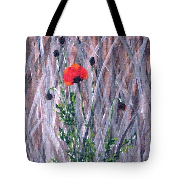Poppy In The Wild Tote Bag