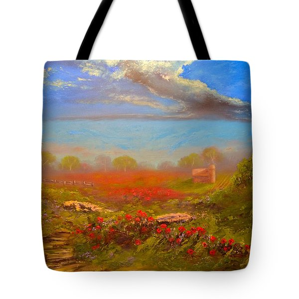 Poppy Morning Tote Bag