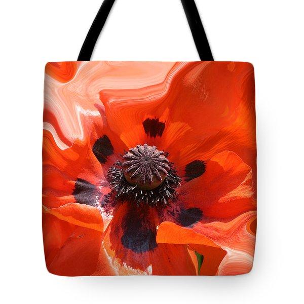 Poppy Nest Tote Bag
