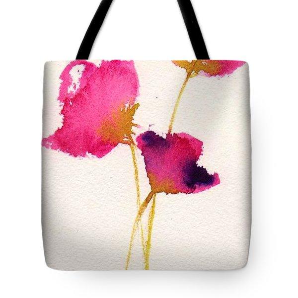 Poppy Pirouette Tote Bag by Anne Duke