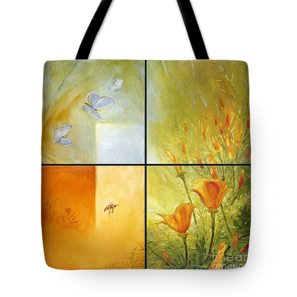 Poppy Pollination Tote Bag