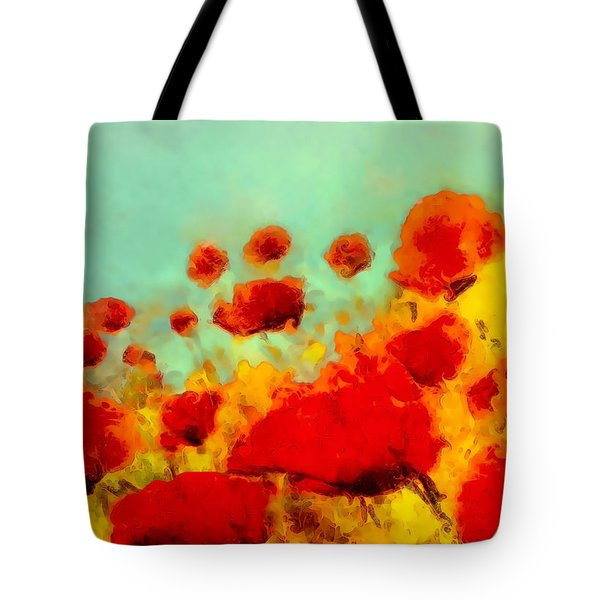 Poppy Time Tote Bag