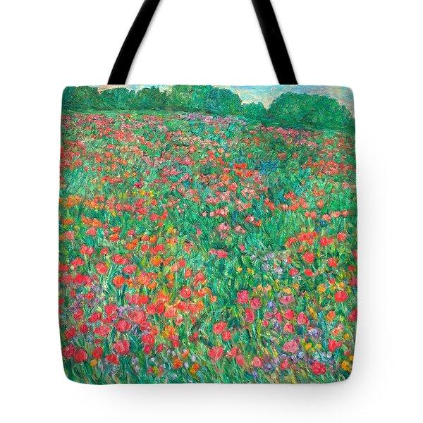 Poppy View Tote Bag
