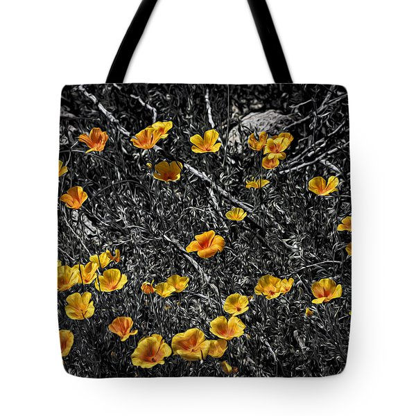 Tote Bag featuring the photograph Poppyflies by Mark Myhaver