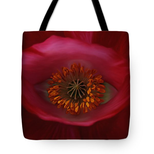 Tote Bag featuring the photograph Poppy's Eye by Barbara St Jean
