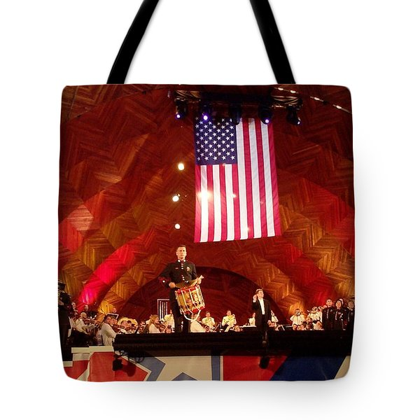 Tote Bag featuring the photograph Pops Finale by Barbara McDevitt