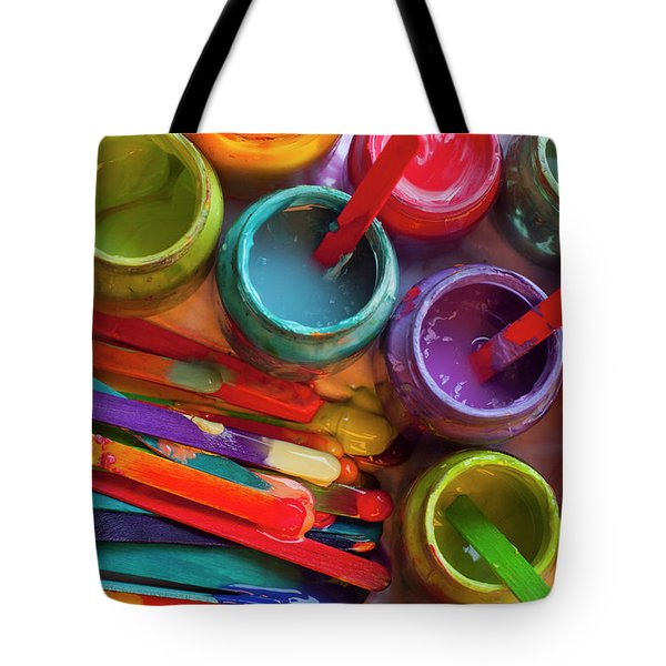 Popsicle Stick Paint Tote Bag