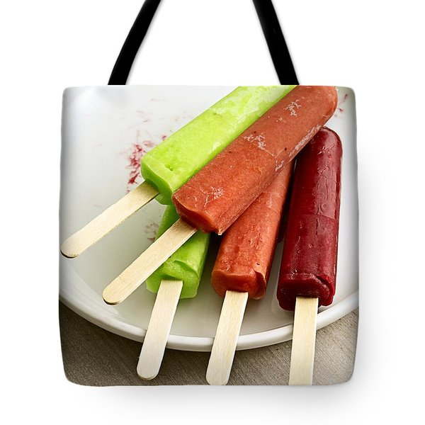 Popsicles Ice Cream Frozen Treat Tote Bag by Edward Fielding