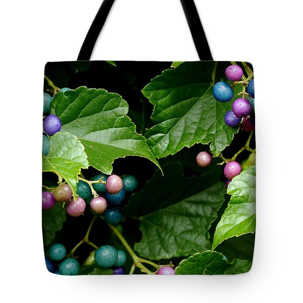 Porcelain Berries Tote Bag by Lisa Phillips